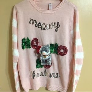 New Christmas kitty cat ugly sweater xxl